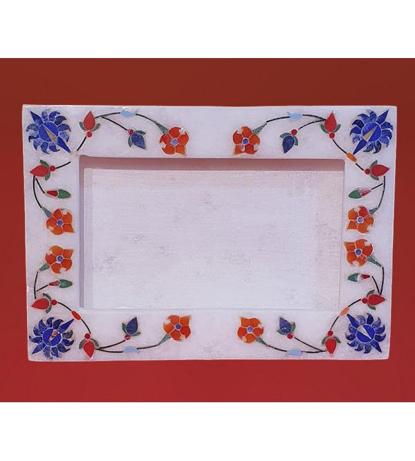 7x5inch Alabaster frame inlay semi precious stone