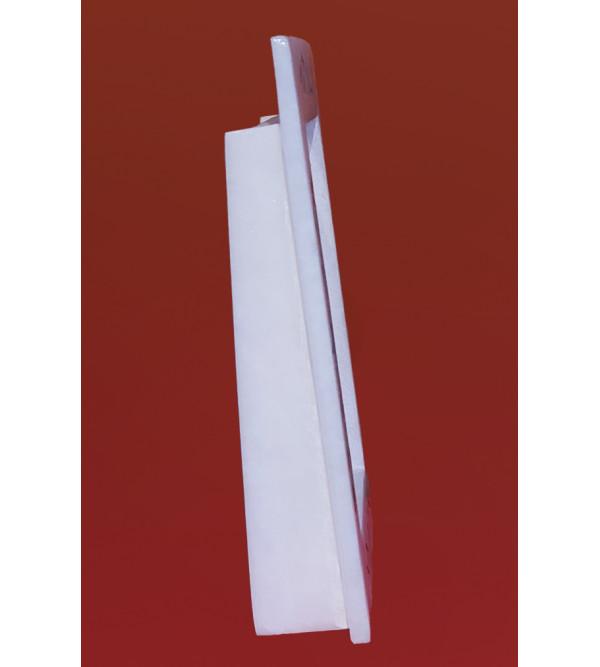 Alabaster Photo Frame With Semi Precious Stone Inlay Size 5x7 Inch