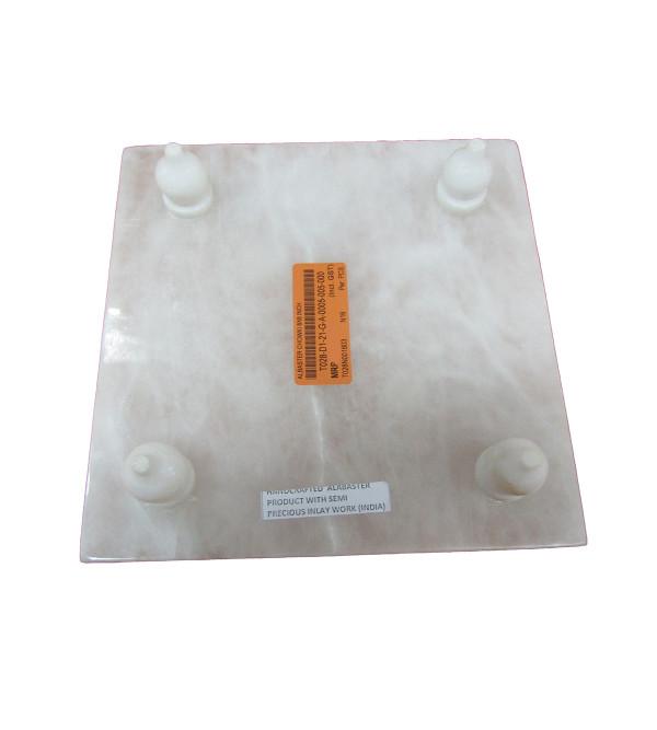 Alabaster Handcrafted Chowki Size 8 X8 Inch
