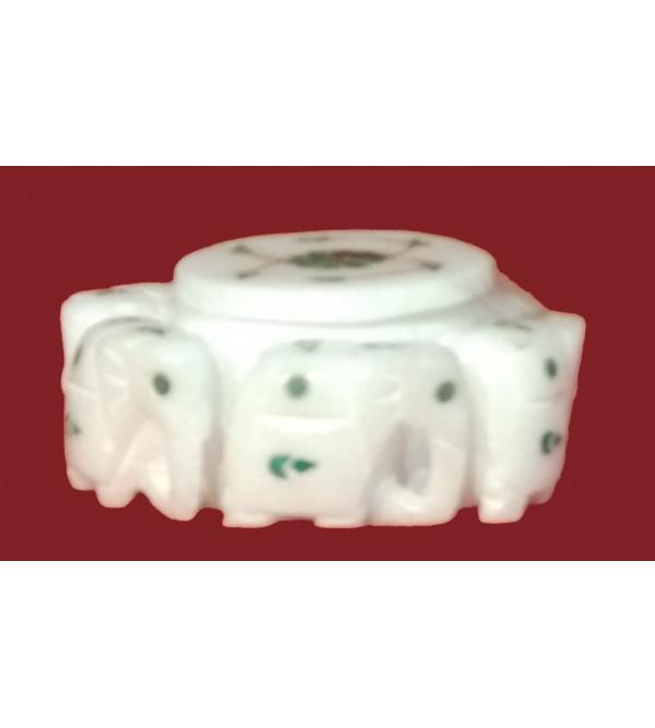 Marble Round Elephant Box Size 2x5 Inch