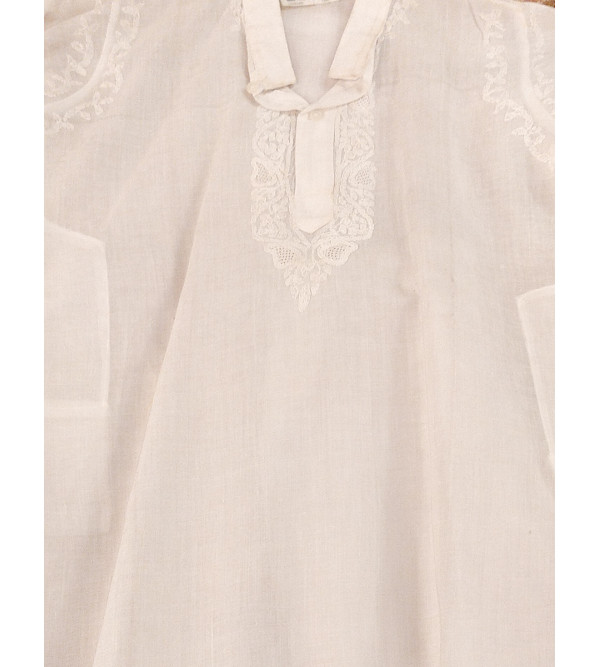 Cotton Kurta Pyjama Set Lucknow Embroidery Year 04-06