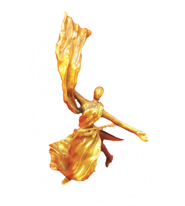 Dancer Handcrafted In Brass Size 7 Inches