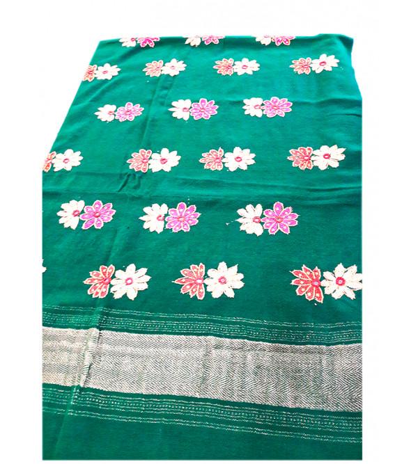 Woollen Hand  Woven Mirror Work Shawl of Gujarat Size,40X80 Inch