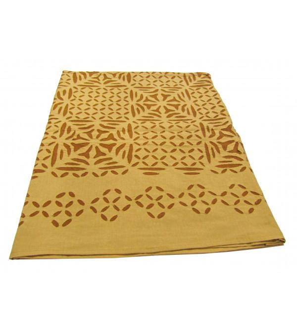 Applique Table Cloth Size  60 X90 Inch
