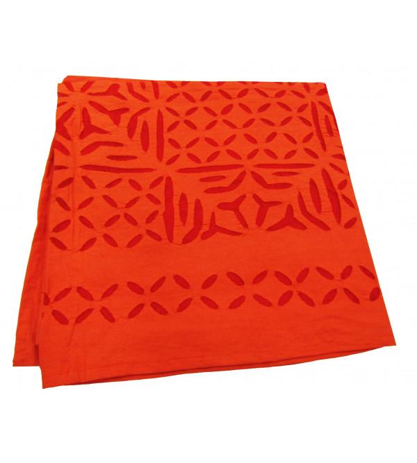 Table Cloth Cotton  Applique Size  60 X60 Inch