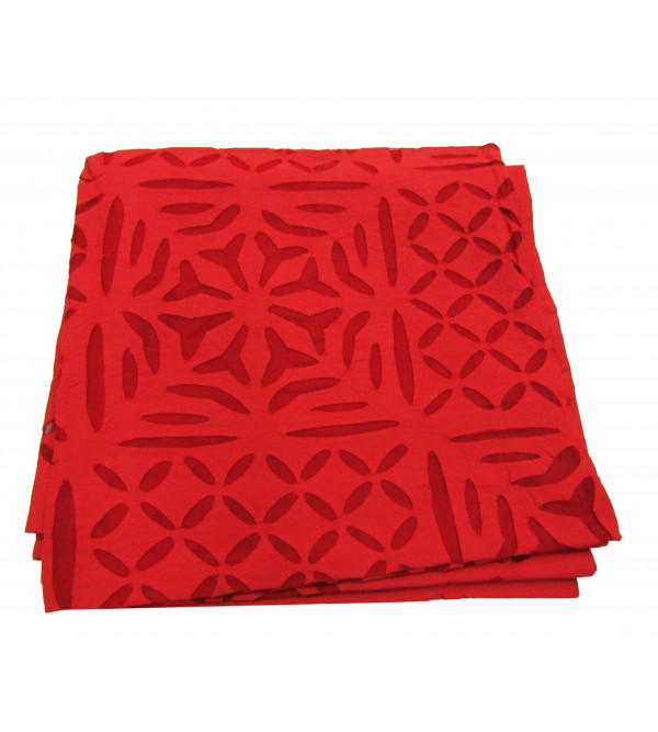 Table Cloth Cotton Applique Work Size  48 X48 Inch