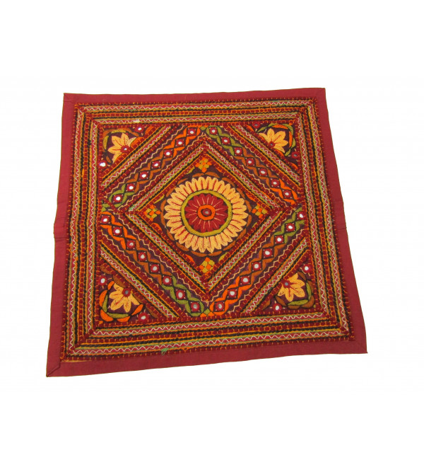 Cushion Cover Dhaa Embroidory Size  18 X18 Inch