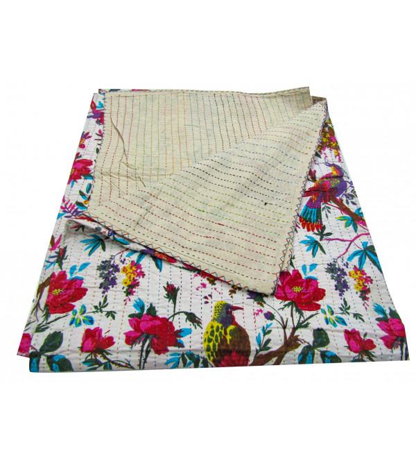 Bed Cover Print Gudari  Size 90 X108 Inch