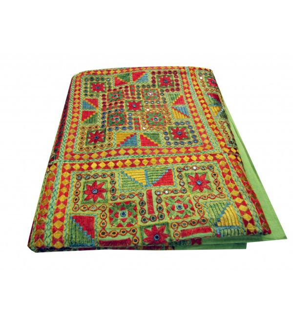 Bed Cover Star Stone Work  Size 90 X108 Inch