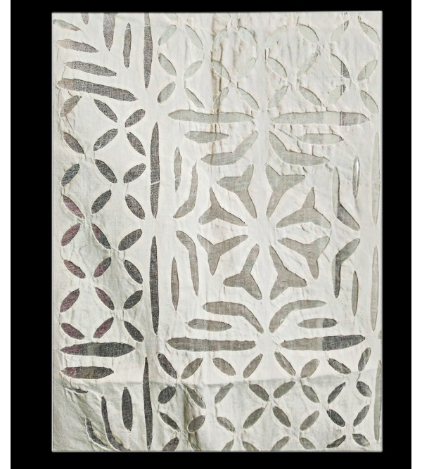 Gujarat Hand Embroidered  Cotton Curtain Size 44X60 Inch