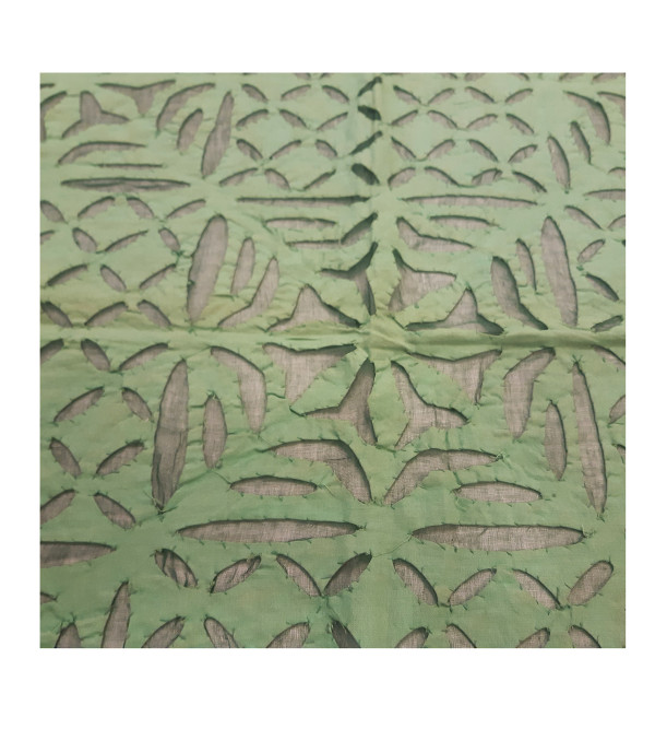 Cotton Applique Work Table Cover Size 48x48 Inch
