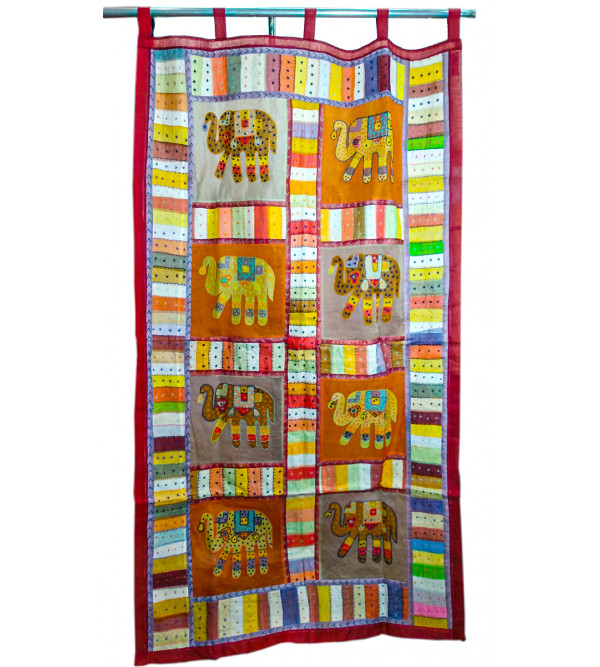 COTTON DOOR CURTAIN  Applique Size 44X80 INCH