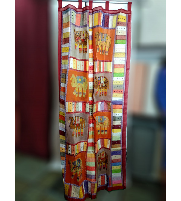 COTTON DOOR CURTAIN CUT WORK 44X80 INCH