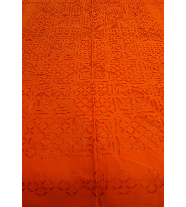 60X90 INCH BED COVER APPLIQUE WORK