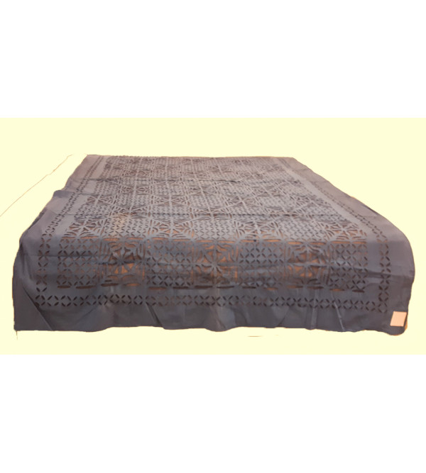 Cotton Applique Work Table Cover Size 72x108 Inch
