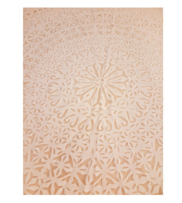 Cotton Applique Work Table Cover Size 72 Inch Round