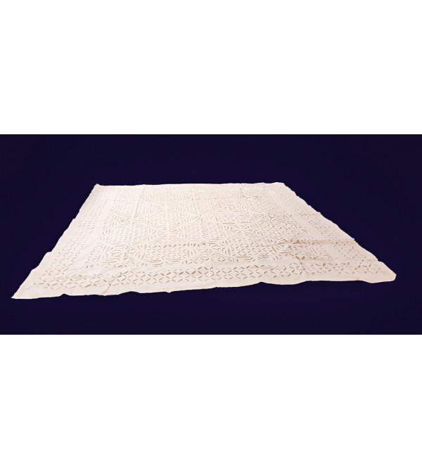 Applique Work Cotton Table Cover Size 60x60 Inch