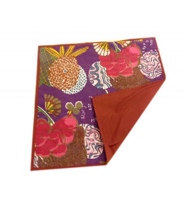 Applique Gudri Work Cotton Cushion Cover Size 16x16 Inch