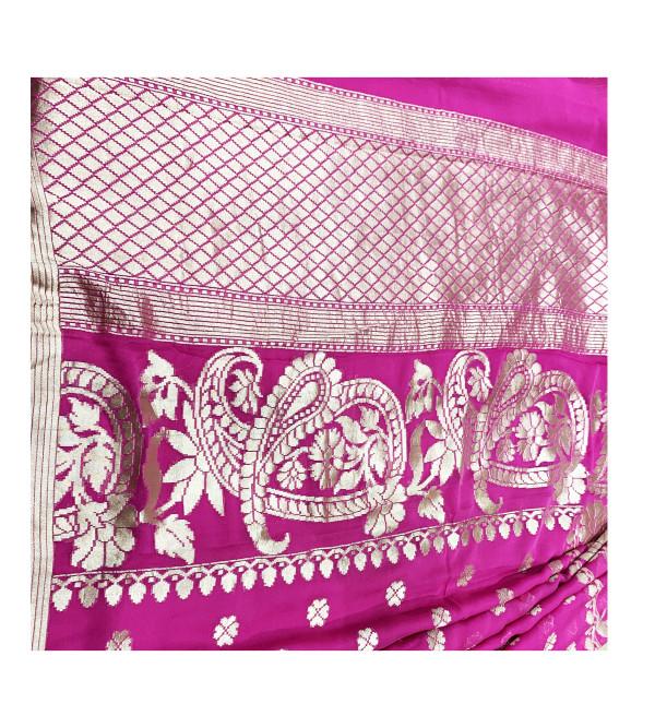 Banaras SAREE  ZARI Chiffon georgette WITH BLOUSE