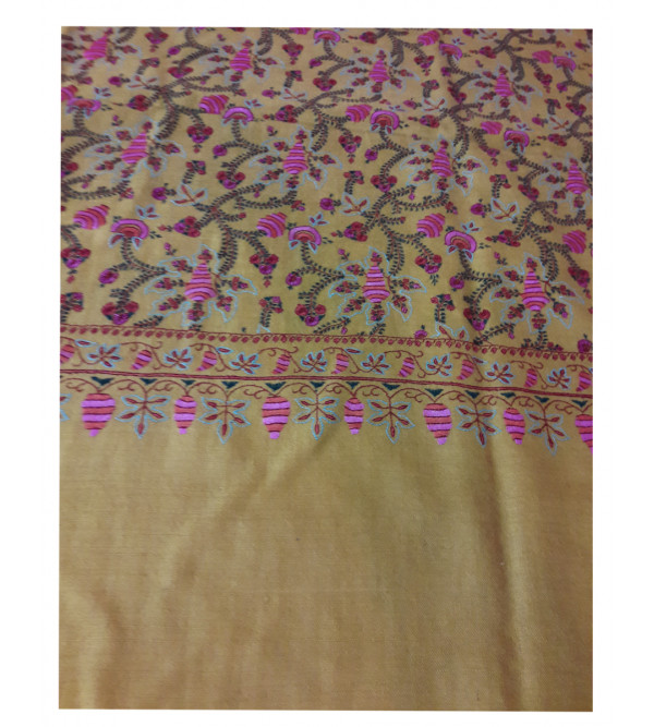 Pashmina  Shawl Hand  Embroidered In Kashmir Size 40X80 Inch