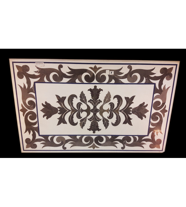 Marble Table Top With Inlay