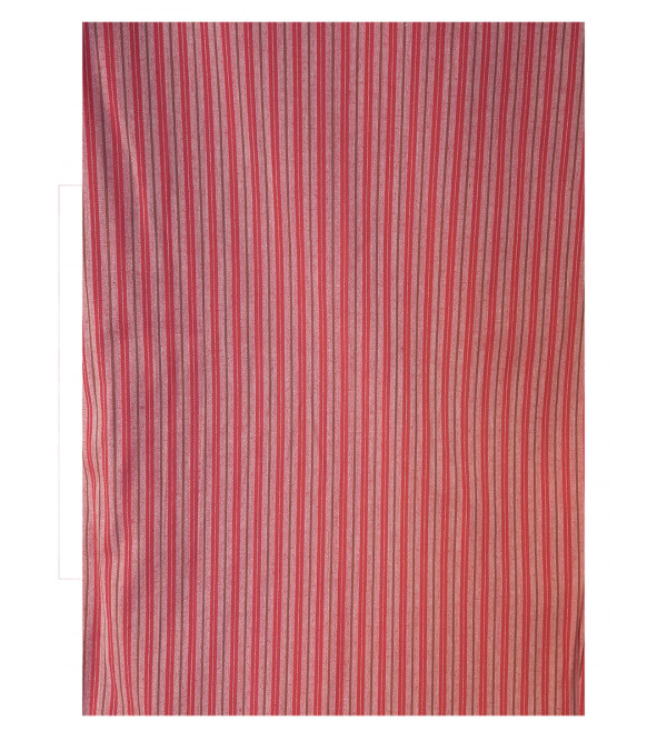 Cotton Stripe Handwoven Fabric Width 44 Inch