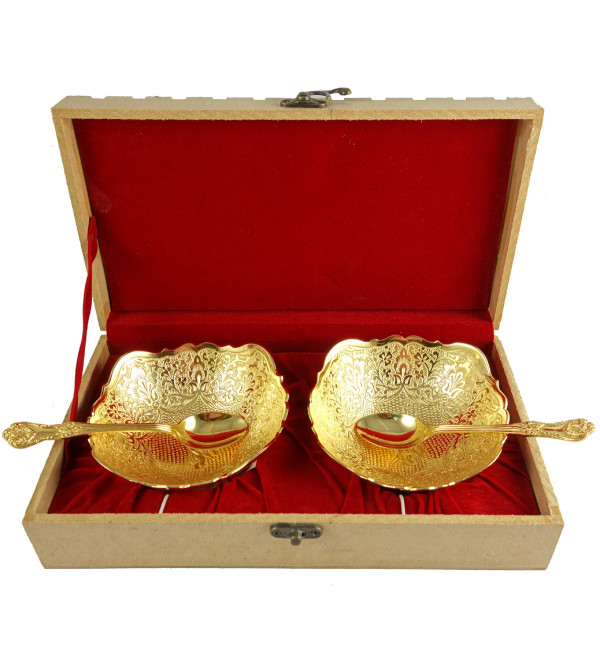 HANDICRAFT BRASS BOWL SET 4.5 INCH