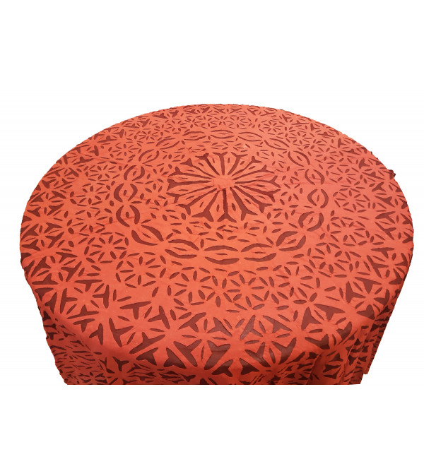 Cotton Applique Work Table Cover Size 90 Inch Round