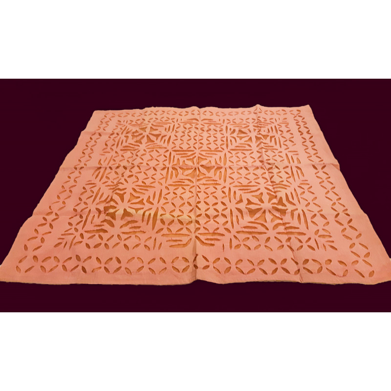 Cotton Applique Work Table Cover Size 36x36 Inch
