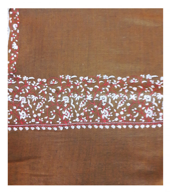 Cashmere Pashmina Stole Hand Embroidered in Kashmir Size,28X80 Inch
