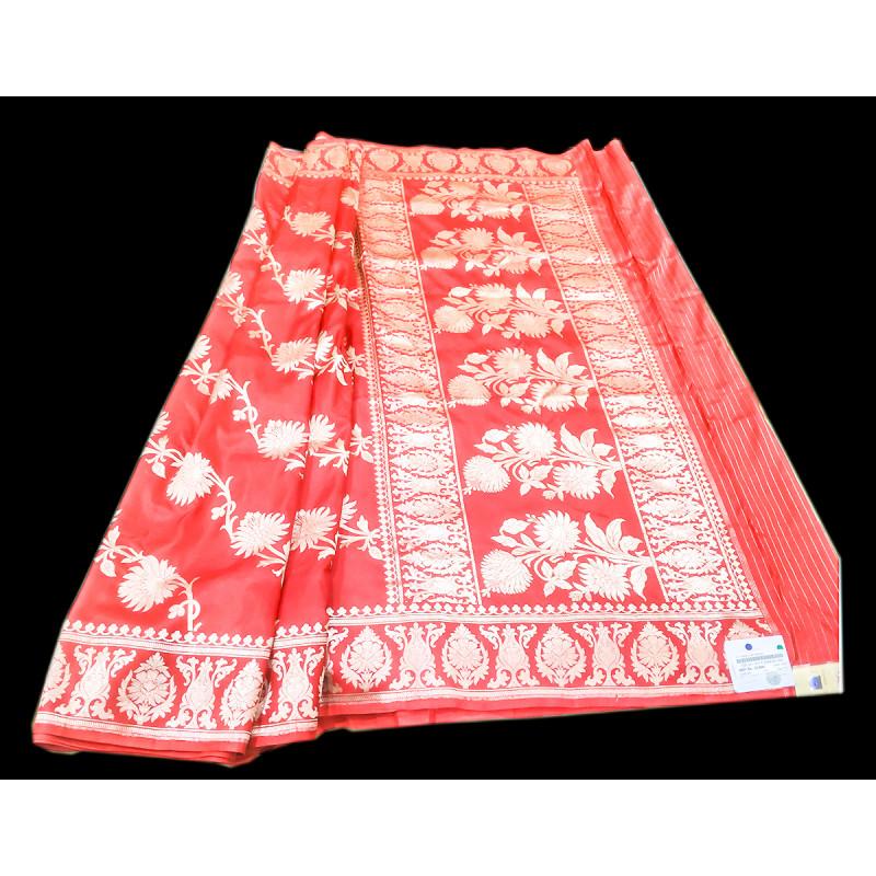 Katan Silk Handloom Banaras Kadua Saree with Blouse