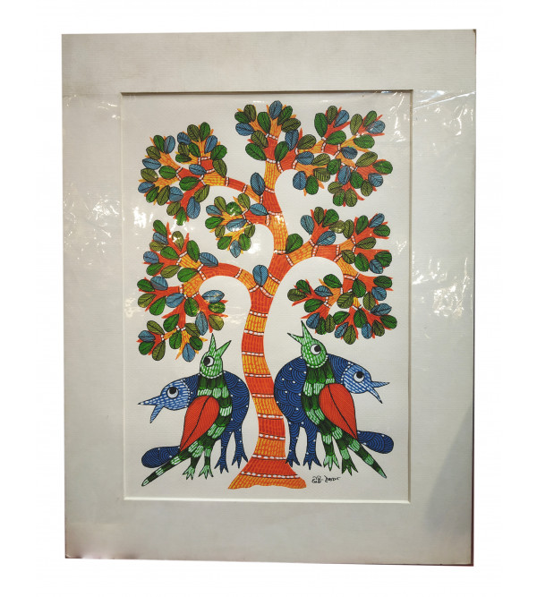 Gond painting mounted 18x14(inch)