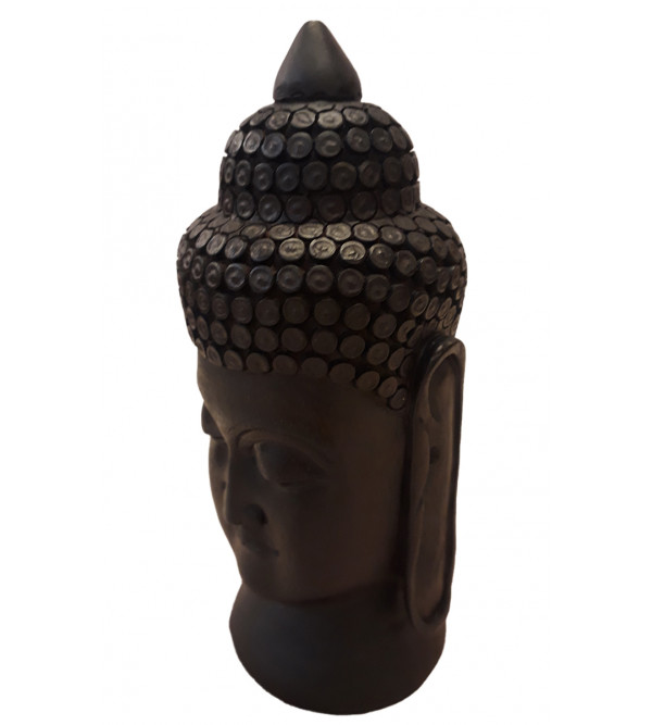 Red Sandalwood Handcrafted Carved Lord Buddha Head Figure