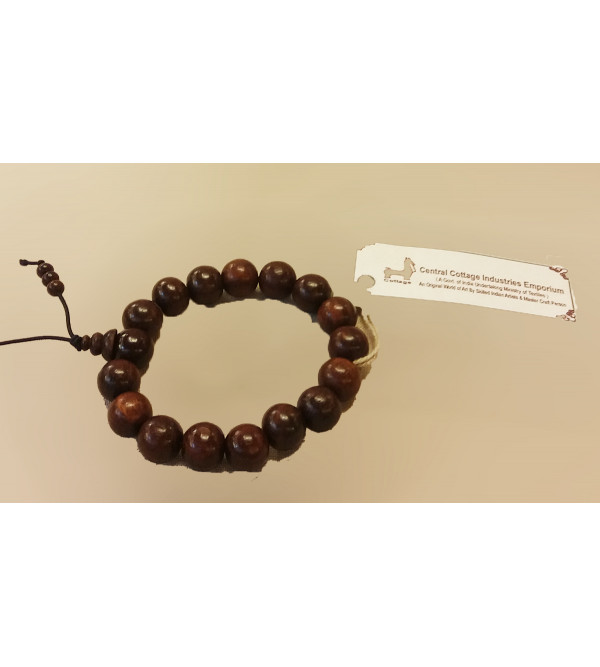 BRACLET 12MM RED SANDAL WOOD