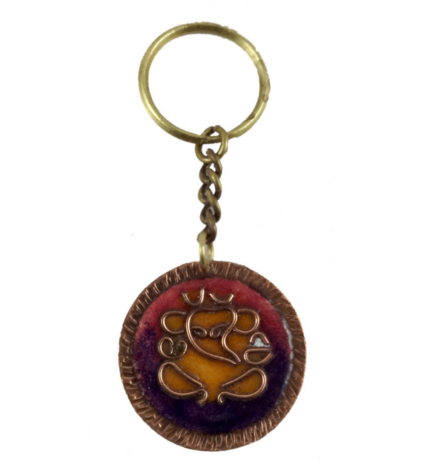 HANDICRAFT KEY CHAIN COPPER ENAMELED ASSORTED