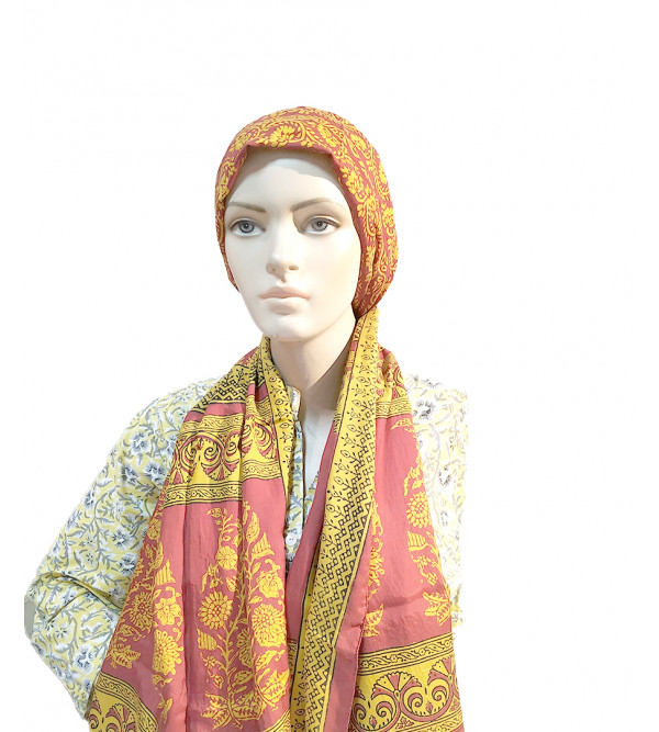 CCIC Printed Crape Stole Size 22x72 Inch
