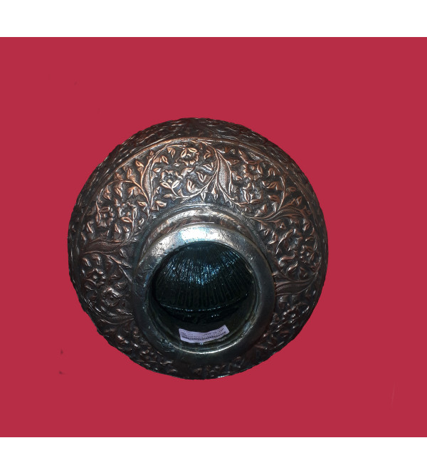 Handcrafted Brass Copper Ghara Emboss Work 16x15 Inch