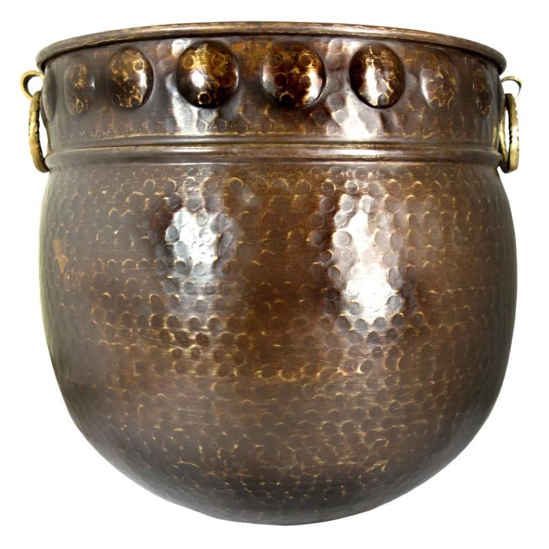 Handicraft Planters Brass Hammered 14x13 Inch