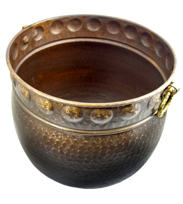 Handicraft Planters Brass Hammered 8x6 Inch