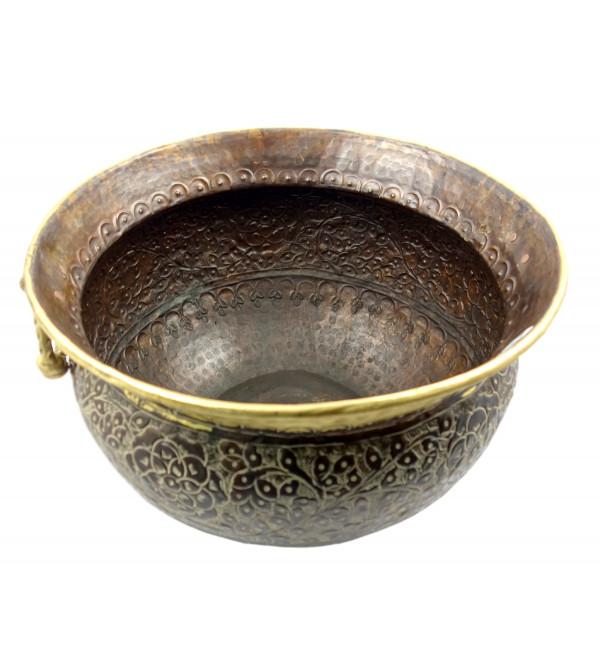 Handicraft Planters Brass Plain Chittai 8x5 Inch