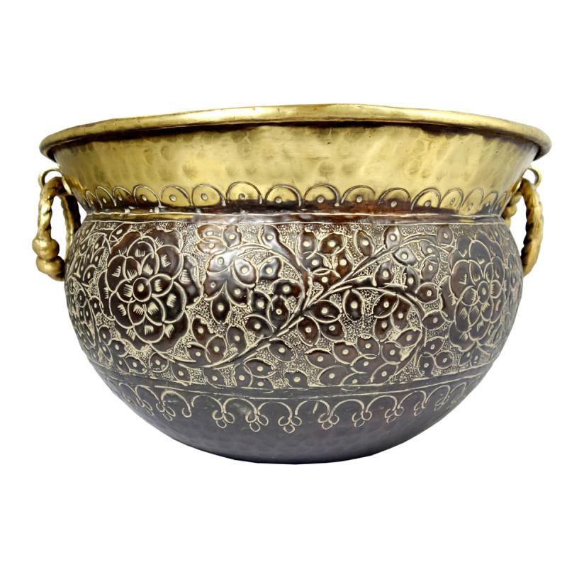 Handicraft Planters Brass Plain Chittai 12x18 Inch