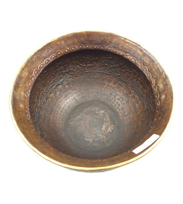 Handicraft Planters Brass Plain Chittai 14x9 Inch