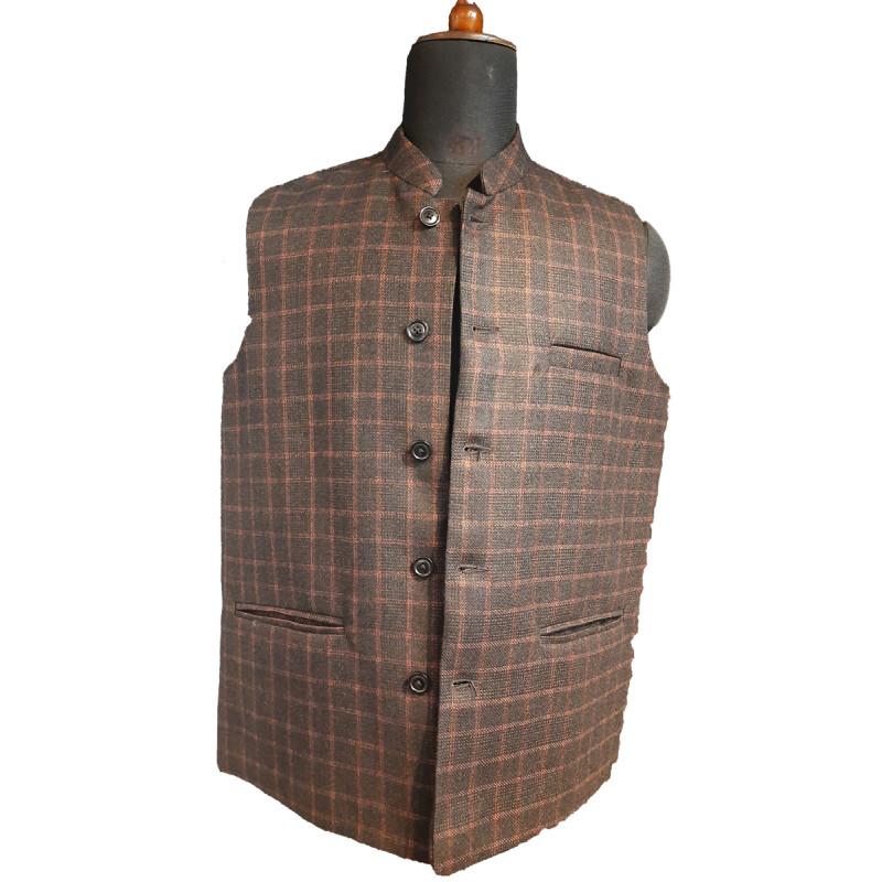 Tweed Woolen Nehru Jacket