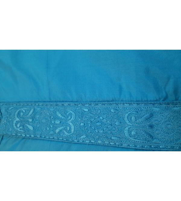 Silk Embroidered Kurta  Full Sleeve Size 38 Inch