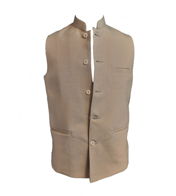 Cotton Plain Nehru Jacket size 40 Inch