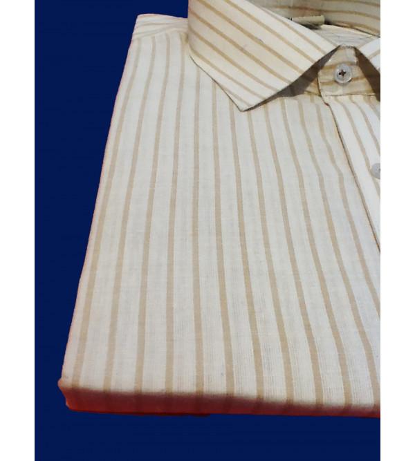 Cotton Stripe Shirt Full Sleeve Size 46 Inch