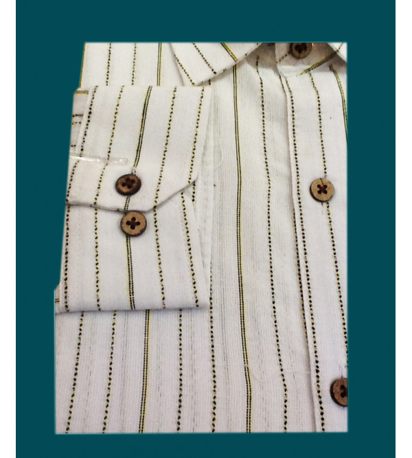 Stripe Cotton Shirt Full Sleeve Size 44 Inch