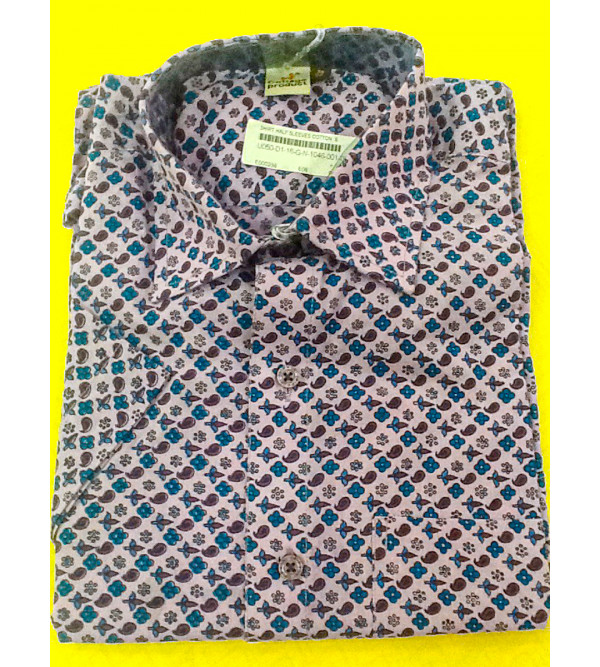 Printed Cotton Shirt Half Sleeve Size 38 Inch