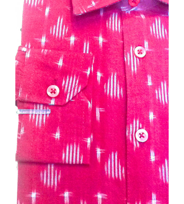 Cotton Ikat Shirt Full Sleeve Size 38 Inch