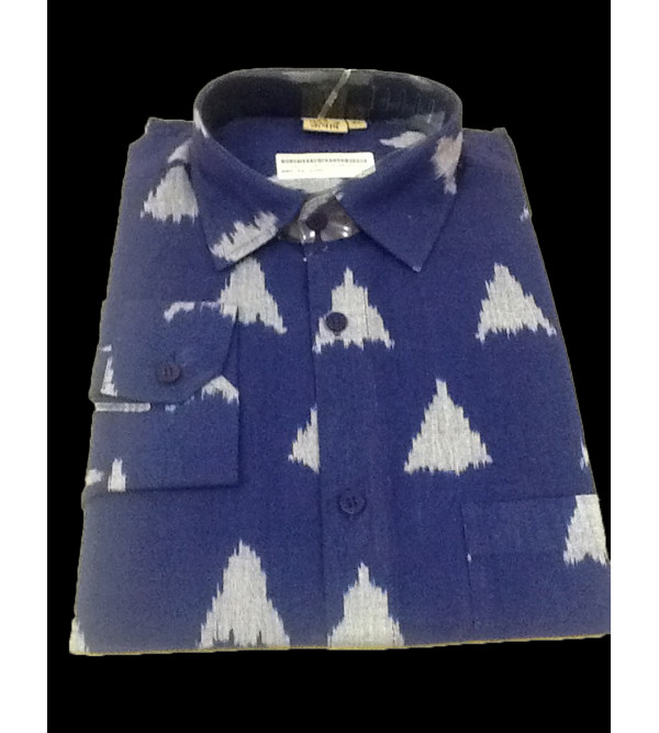 Cotton Ikat Shirt Full Sleeve Size 42 Inch
